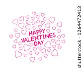happy valentines day   card... | Shutterstock .eps vector #1264472413