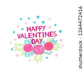 happy valentines day   card... | Shutterstock .eps vector #1264472416