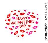 happy valentines day   card... | Shutterstock .eps vector #1264472440