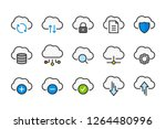 cloud data and digital... | Shutterstock .eps vector #1264480996