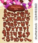chocolate boom vector font set. ... | Shutterstock .eps vector #1264481860