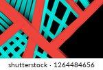 bright strokes paint on black...   Shutterstock . vector #1264484656