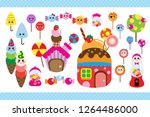 candy land ice cream and... | Shutterstock .eps vector #1264486000