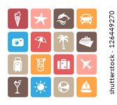 summer icons | Shutterstock .eps vector #126449270