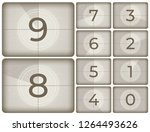 old cinema countdown. vintage... | Shutterstock .eps vector #1264493626