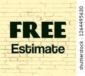 free estimate. concept business ... | Shutterstock .eps vector #1264495630