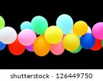 Colorful Balloon Isolated On...