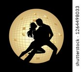 dancing couple with disco ball...