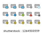 credit and debit card color... | Shutterstock .eps vector #1264503559