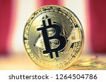 bitcoin as crypto currency ... | Shutterstock . vector #1264504786