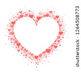 frame of coral hearts in the... | Shutterstock .eps vector #1264508773