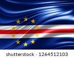 cape verde flag of silk  3d... | Shutterstock . vector #1264512103