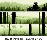Horizontal Banners Of Hills Of...