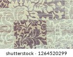 specimen of carpet in gray... | Shutterstock . vector #1264520299