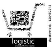 logistic icon symbols composed...   Shutterstock . vector #126452348