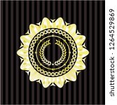 laurel wreath icon inside shiny ... | Shutterstock .eps vector #1264529869