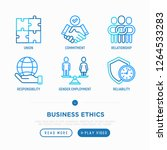 business ethics thin line icons ... | Shutterstock .eps vector #1264533283