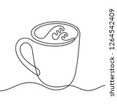 coffee abstract continuous line ... | Shutterstock .eps vector #1264542409