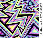 music maze seamless pattern...   Shutterstock .eps vector #1264544419