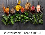 spices on black board   Shutterstock . vector #1264548133