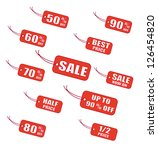 red sale labels | Shutterstock .eps vector #126454820