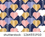 hearts color seamless vector... | Shutterstock .eps vector #1264551910