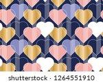 hearts color seamless vector... | Shutterstock .eps vector #1264551910