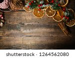 christmas wooden background | Shutterstock . vector #1264562080