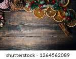christmas wooden background | Shutterstock . vector #1264562089