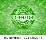 adrenaline green emblem. mosaic ...   Shutterstock .eps vector #1264563346