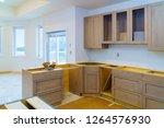 kitchen cabinets installation... | Shutterstock . vector #1264576930