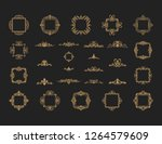 vintage decor elements and... | Shutterstock .eps vector #1264579609