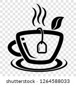 icon  a cup of instan hot... | Shutterstock .eps vector #1264588033