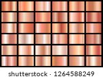 realistic pink gold gradient... | Shutterstock .eps vector #1264588249