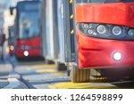 public transportation   bus in... | Shutterstock . vector #1264598899