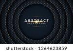 dark circle paper cut...   Shutterstock .eps vector #1264623859