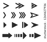 next arrows. black flat signs.... | Shutterstock . vector #1264627936