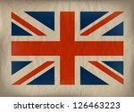Vintage Union Jack Flag On...