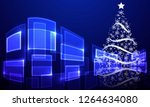 abstract christmas tree on hi... | Shutterstock .eps vector #1264634080