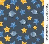 vector pattern with cartoon... | Shutterstock .eps vector #1264639459