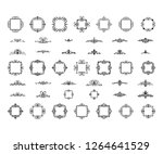 vintage decor elements and... | Shutterstock .eps vector #1264641529