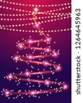 abstract christmas tree with... | Shutterstock .eps vector #1264645963