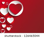 vector   valentine day heart on ... | Shutterstock .eps vector #126465044
