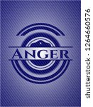 anger badge with denim texture | Shutterstock .eps vector #1264660576