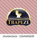 golden emblem or badge with wc ... | Shutterstock .eps vector #1264660630