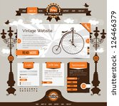 vintage website template with... | Shutterstock .eps vector #126466379