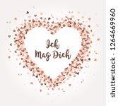 vector rose gold glitter heart... | Shutterstock .eps vector #1264669960