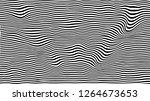 black wavy stripes background.... | Shutterstock .eps vector #1264673653