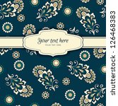 invitation card on background... | Shutterstock .eps vector #126468383