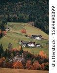 funes valley  dolomites alps....   Shutterstock . vector #1264690399